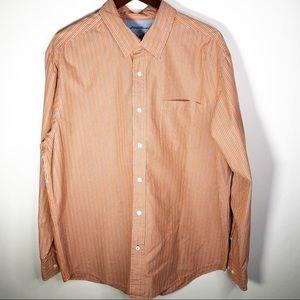 Eddie Bauer Long Sleeve Striped Button Down XL